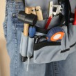 Stock Photo: Workers tool belt