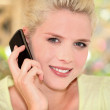 Blonde womon phone — Stock Photo #14039957