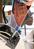 Collage of construction materials — Stock Photo