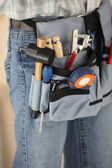 Workers tool belt — Stock Photo