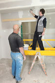 Two plasterers — Stock Photo