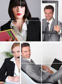 Mosaic of young professionals — Stockfoto