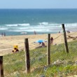 Fence around beach — Stockfoto #14042927