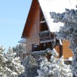 Ski cabin — Stock Photo