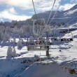 Stock Photo: Landscape shot of ski lift
