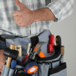 Stock Photo: Manual worker tool belt