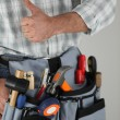 Manual worker tool belt - Stock Photo