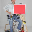 Stock Photo: Carpenter advertising services