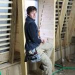 Portrait of carpenter in construction site — Stock Photo #14092762