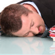Stock Photo: Exhausted mat work