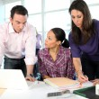 Colleagues working in the office — Stock Photo