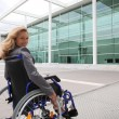 Stock Photo: Woman in wheelchair