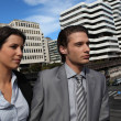Businesspeople in urban environment — Stock Photo #14098939