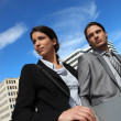 Stock Photo: Business partners in city