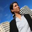 Royalty-Free Stock Photo: Portrait of a businesswoman in the city