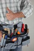 Manual worker tool belt — Stock Photo