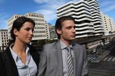 Businesspeople in urban environment — Stock Photo