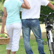 Back view of a couple — Stock Photo