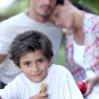 Outdoor family picnic — Stock Photo