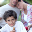 Outdoor family picnic — Stock Photo