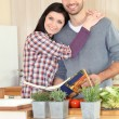 Couple following recipe — Stock Photo #14106446