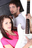 Couple in a band — Stock Photo