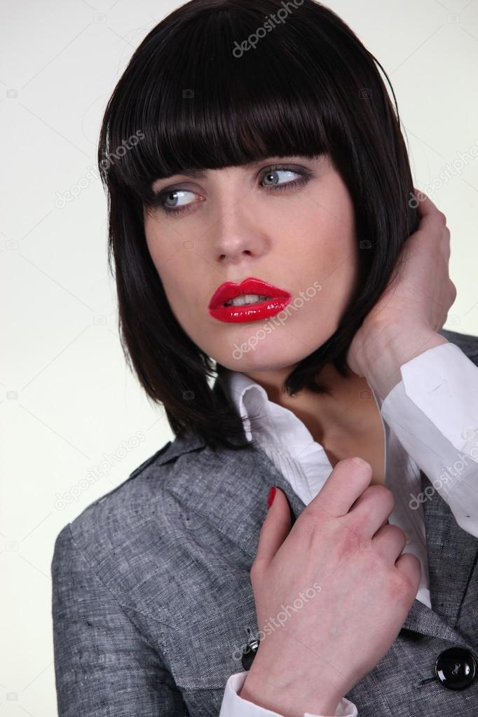 Woman in a trendy suit — Stock Photo #14100158