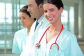 Los trabajadores de hospital — Foto de Stock