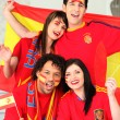 Stock Photo: Spanish sports fans
