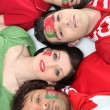 Stock Photo: Portugal football fans