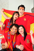 Spanish sports fans — Stock Photo