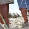 Stock Photo: Walking on sand dune