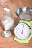 Kitchen scales — Stock Photo