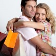 Stock Photo: Couple on a shopping spree