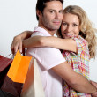 Couple on shopping spree — Stock Photo #14155090