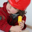 Little boy playing with his toys — Stock Photo