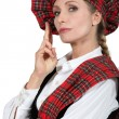 Womin Scottish costume — Stock Photo #14168860