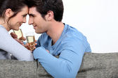Couple celebrating a special event — Stock Photo