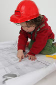Child architect — Stock Photo