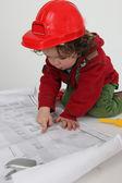 Child architect — Stock Photo