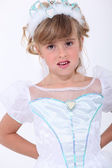Girl dressed up as a princess — Stock Photo