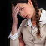 Женщина, плохой день — Стоковое фото #14173102