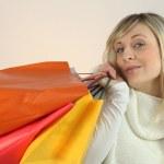 žena po nakupování — Stock fotografie