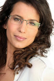 Brunette with glasses — Stock Photo