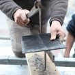 Stock Photo: Mcutting slate