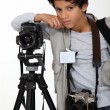 Stock Photo: Child press photographer