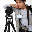 Child press photographer — Stock Photo #14258565