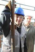 Baumeister und lehrling — Stockfoto