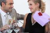 Man full of romantic gestures — Stock Photo