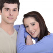 Young couple in studio — Stock Photo #14271885